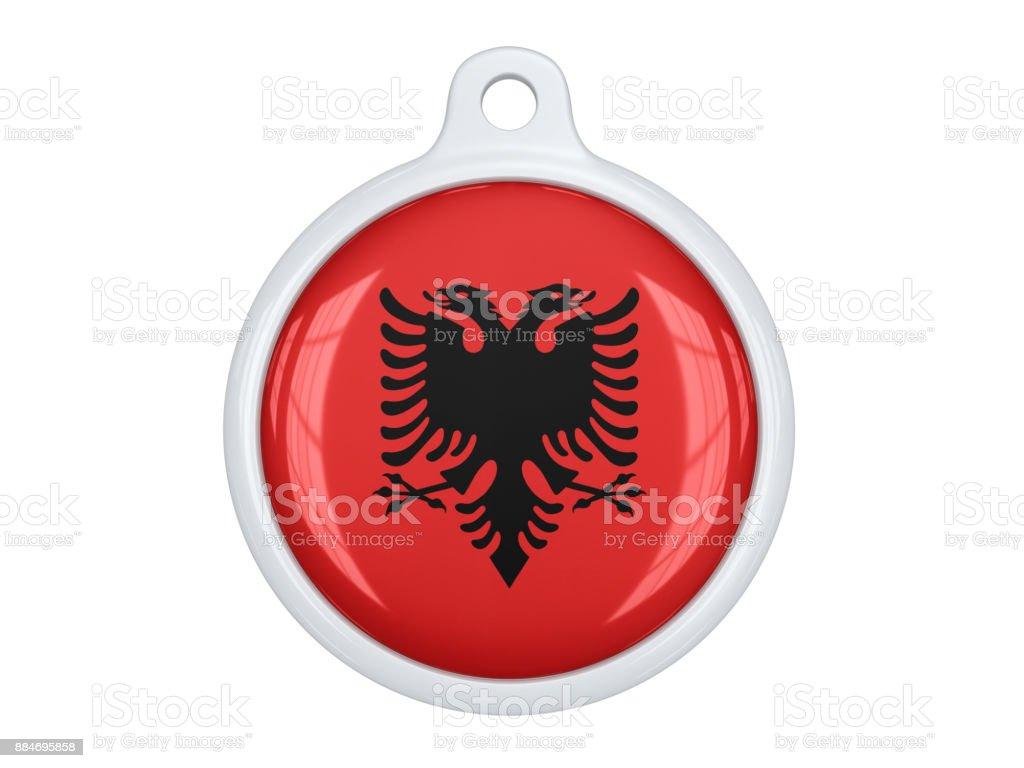 Albania medal stock photo