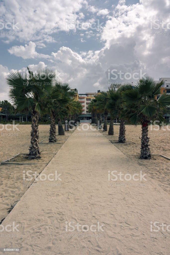 Albania. Resort area Golem stock photo