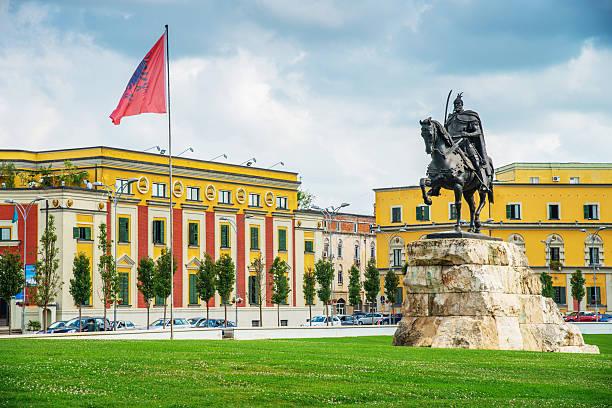 Skanderbegplatz Tirana Albanien – Foto