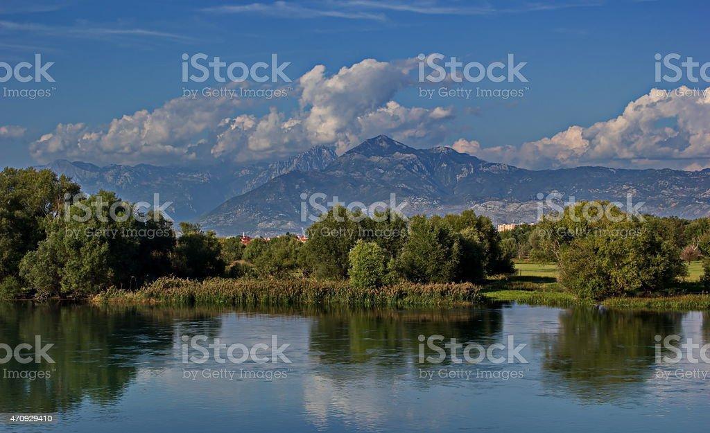 Albanian Alps, Shkoder lake stock photo