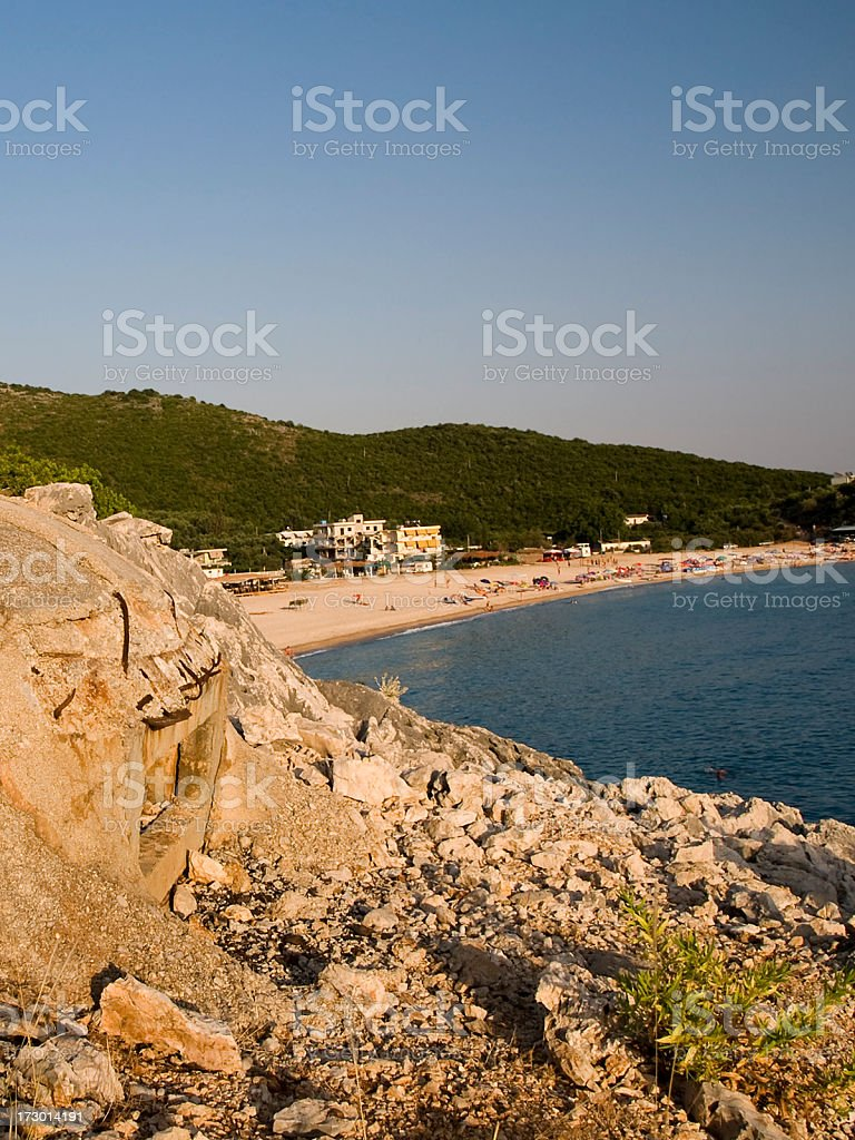 Albanian beach stock photo
