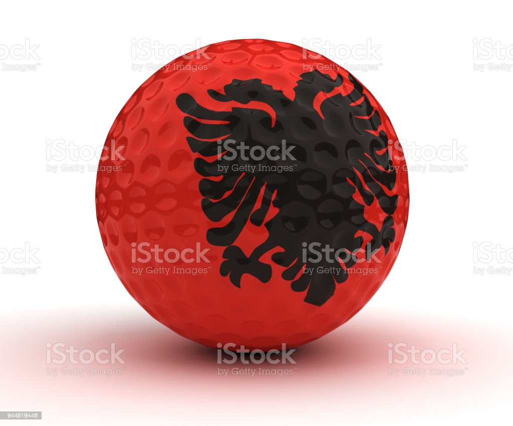 Albanian Golf Ball stock photo