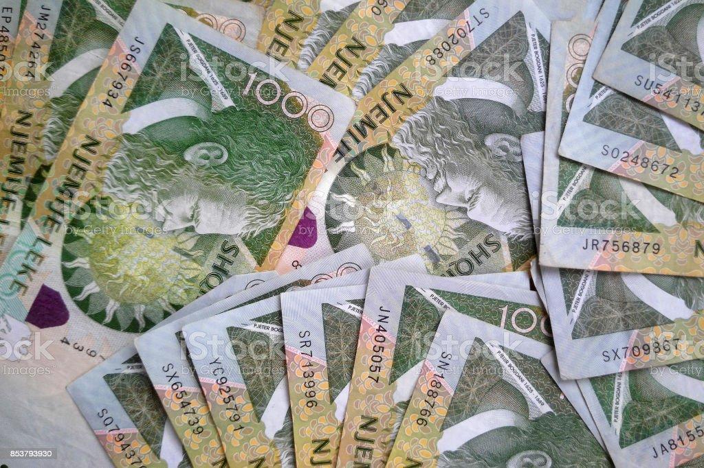 Albanian lek money banknotes – zdjęcie