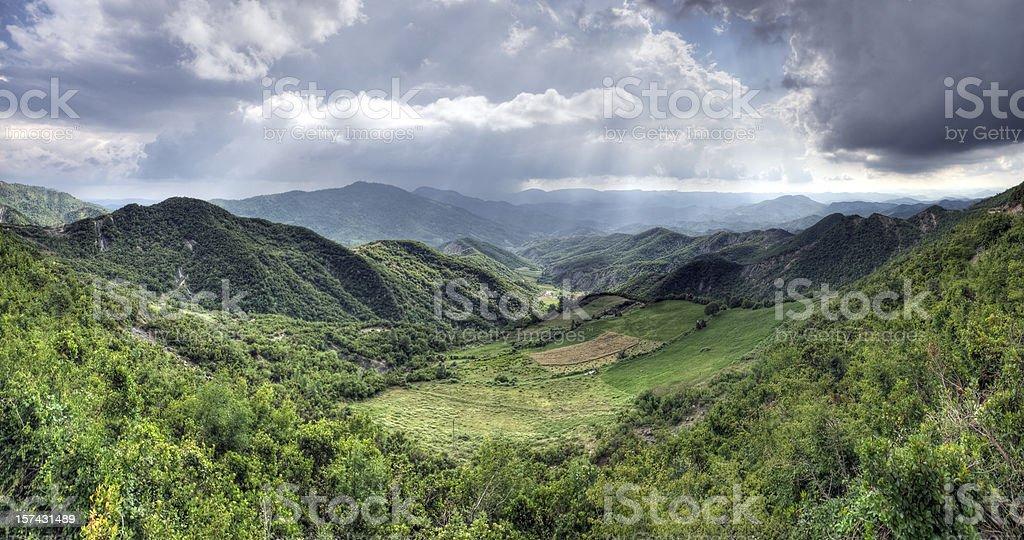 Albanian Mountain Panorama stock photo