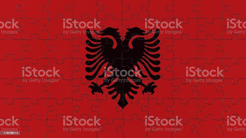 Albanian National Flag royalty-free stock photo