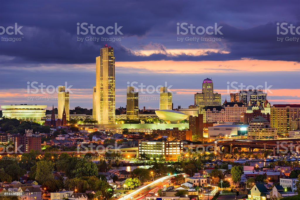 Albany, New York Skyline stock photo