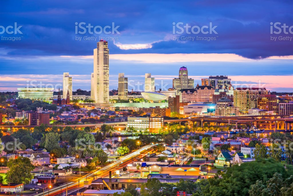 Albany New York Skyline stock photo