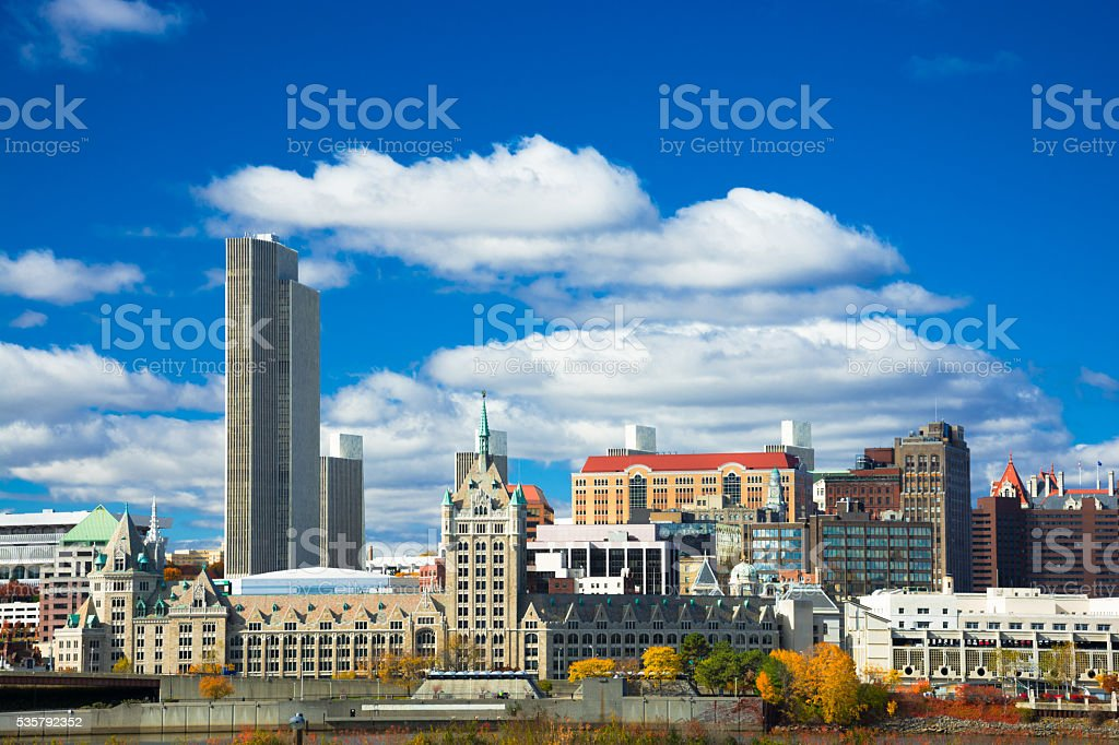 Albany skyline stock photo