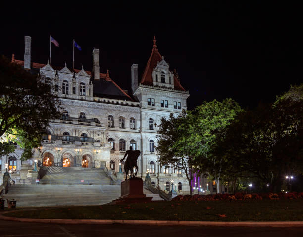 Albany State House at Night