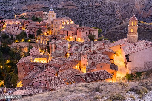 Albarracin - Medieval village in Aragon, Spain. Albarracin is a Spanish town, in the province of Teruel, Autonomous Community of Aragon. Albarracin has an elevation of 1,182 m (3,878 ft) XXXL 42Mp outdoors photo taken with SONY A7rII and Zeiss Batis 40mm F2.0 CF