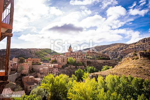 Albarracin village in Teruel Aragon declared one of the most beautiful villages in Spain