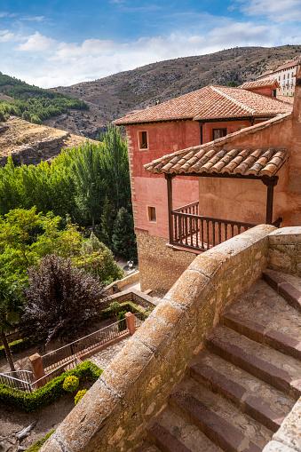 Albarracin village in Teruel Aragon declared one of the most beautiful villages in Spain