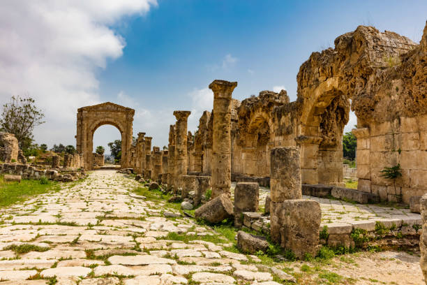 Al-Bass Archaeological Site Tyre Sur South Lebanon Al-Bass Archaeological Site Tyre Sur in South Lebanon Middle east greco roman style stock pictures, royalty-free photos & images