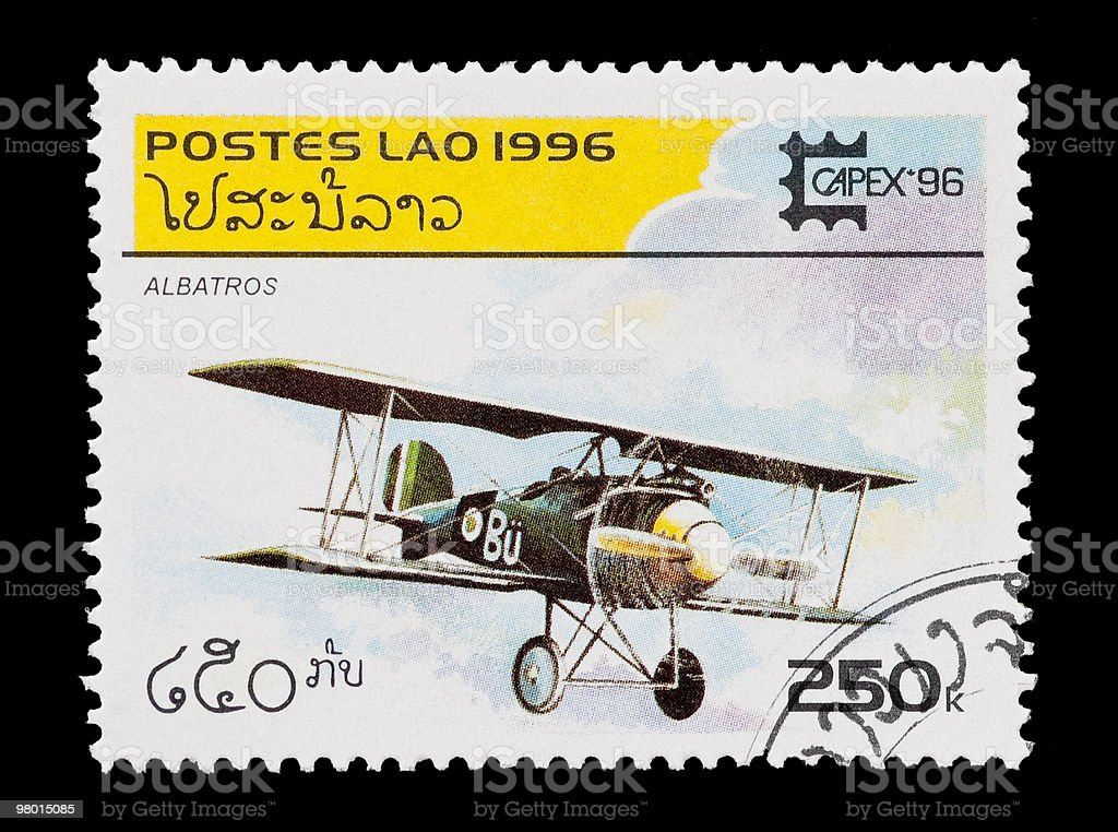 albatros biplane royalty-free stock photo
