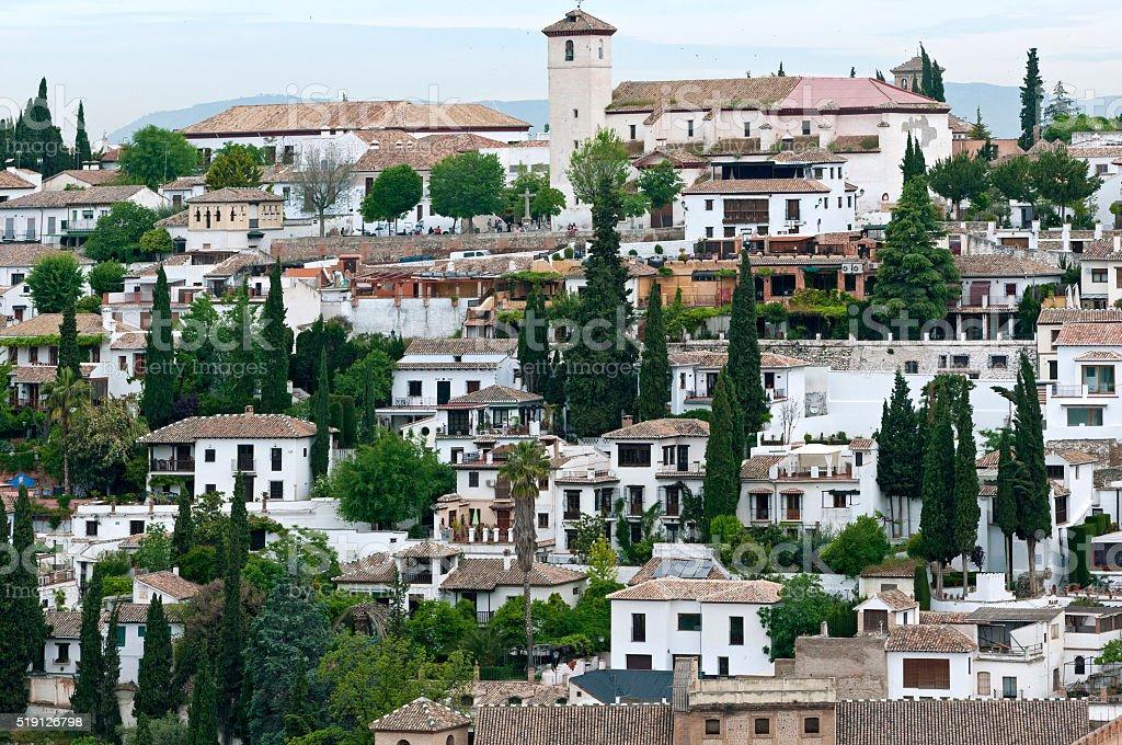 Albayzín, dem ältesten Viertel von Granada :  Andalusien – Foto