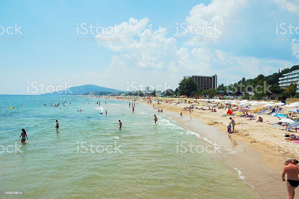 Albena Beach stock photo