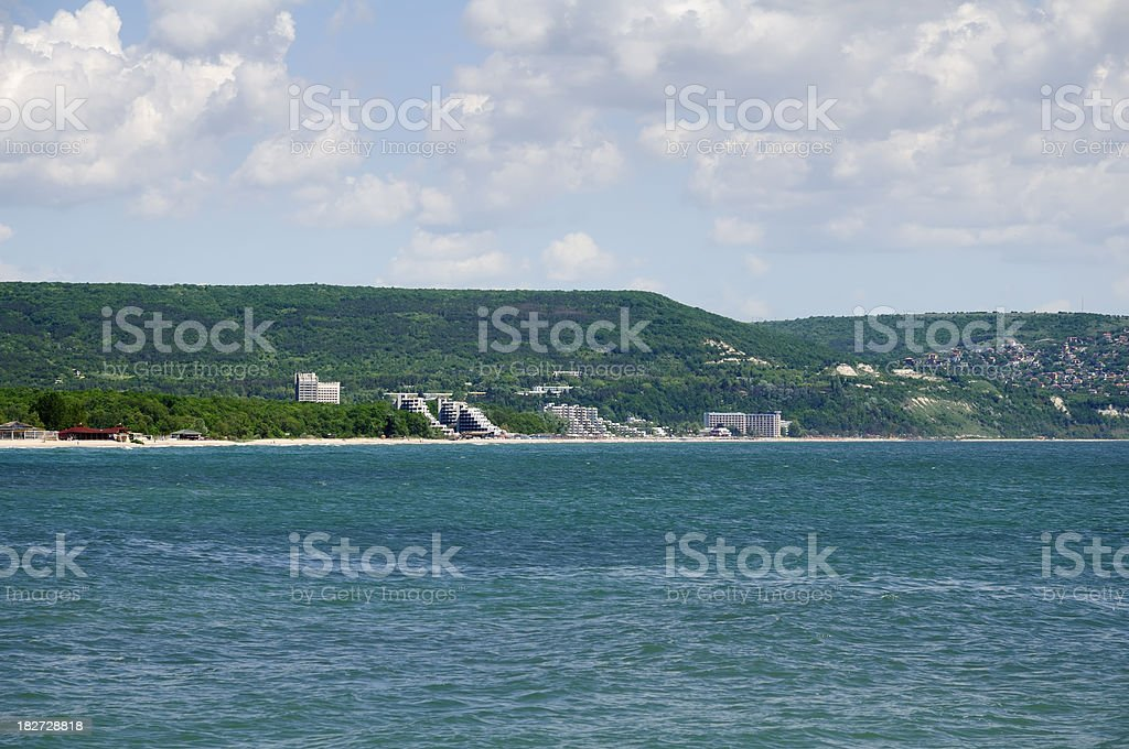 Albena resort near Varna, Bulgaria stock photo