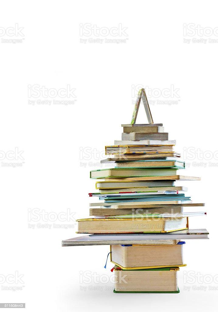 Albero di libri stock photo