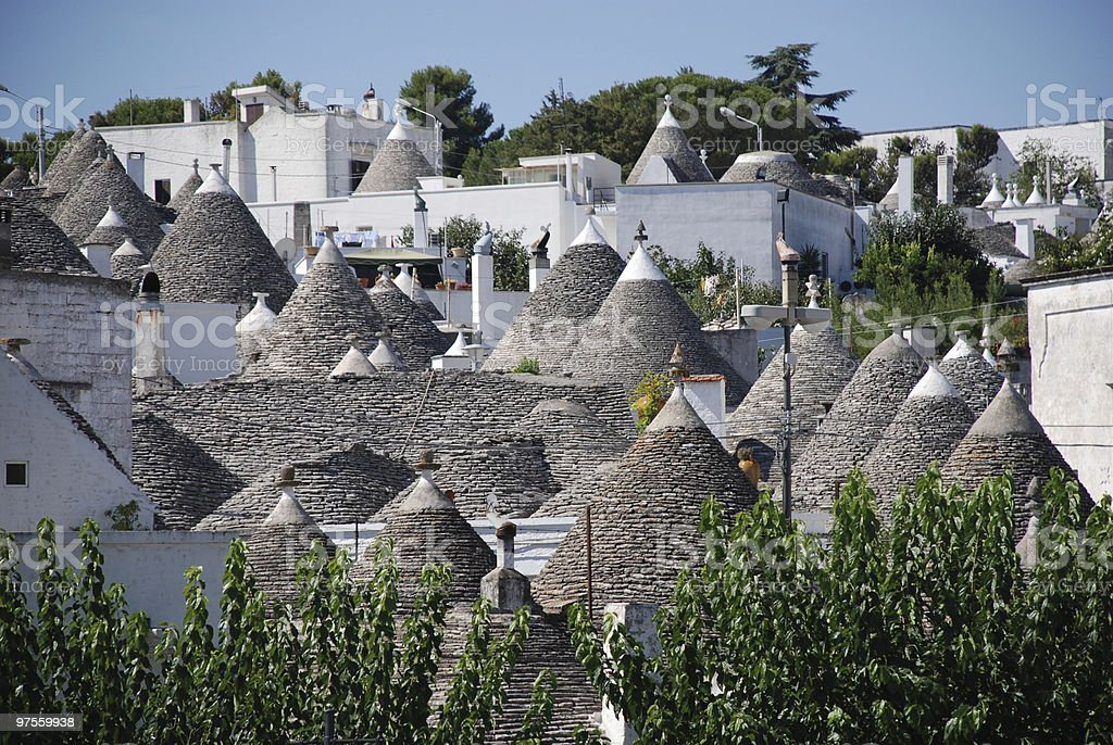 Alberobello Panorama royalty-free stock photo