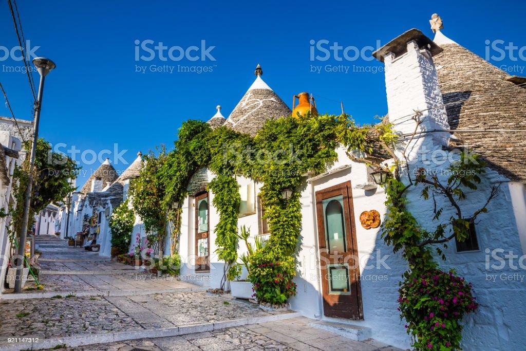 Alberobello With Trulli Houses - Apulia, Italy stock photo