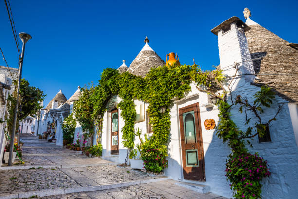 Alberobello With Trulli Houses - Apulia, Italy stock photo