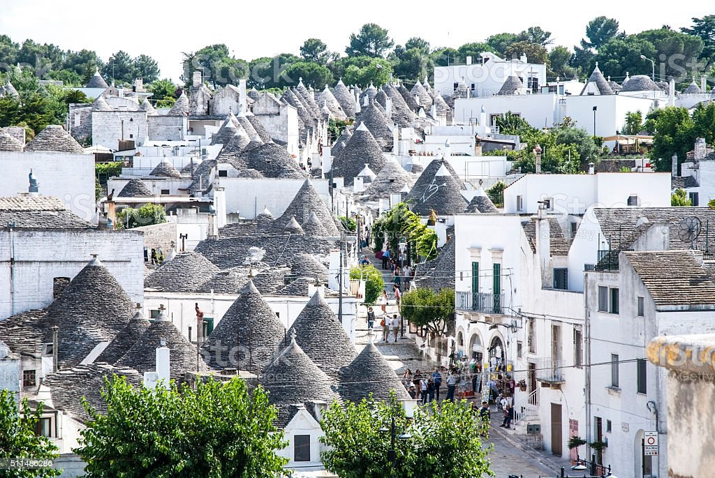 Alberobello's trulli, Apulia, Italy stock photo