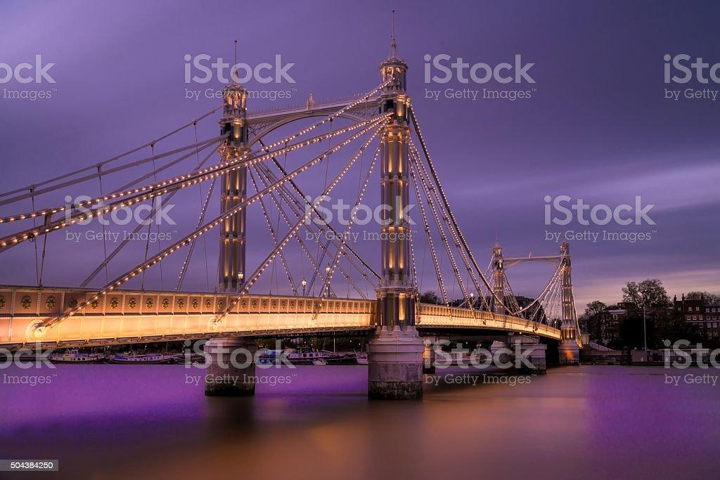 Albert Bridge, London stock photo