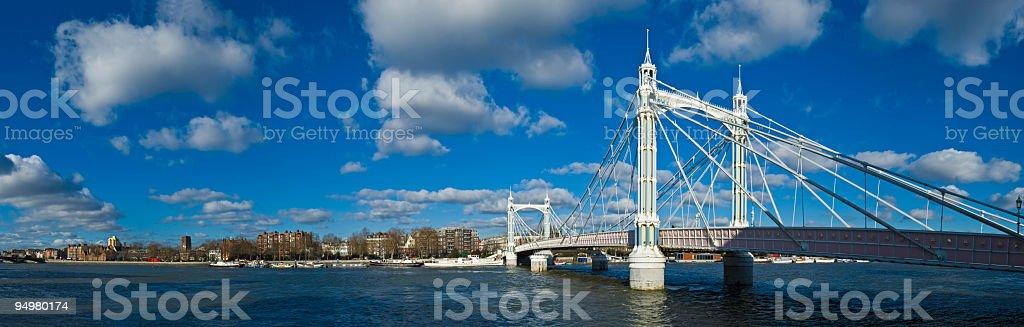 Albert Bridge London stock photo