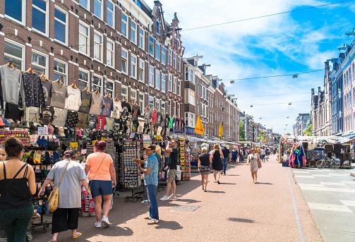 Albert Cuyp Market Amsterdam Netherlands Stock Photo - Download Image Now