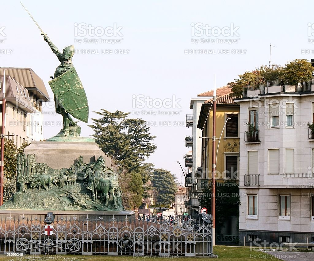 Albert da Giussano Monument stock photo