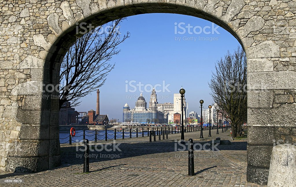 Albert dock, Liverpool stock photo