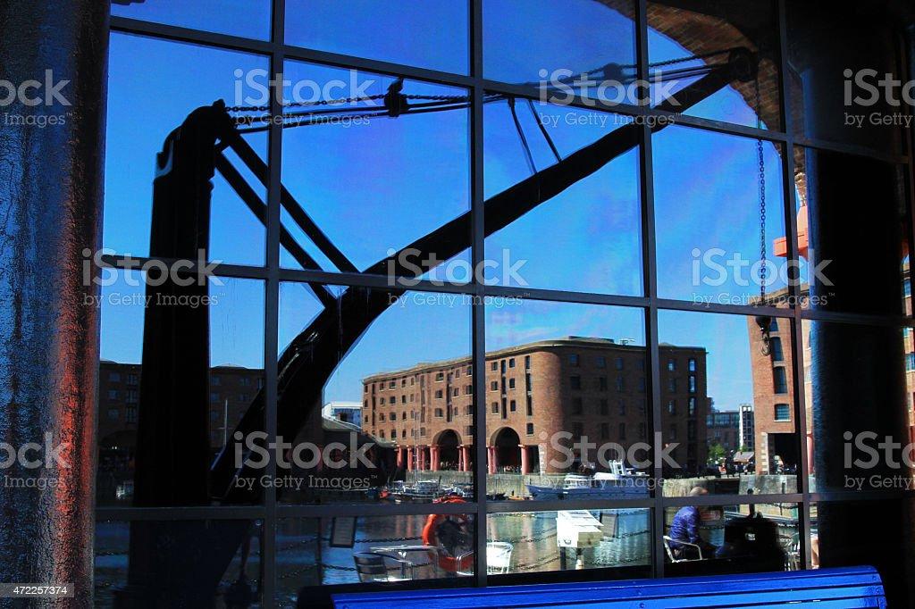 Albert Dock Reflection stock photo
