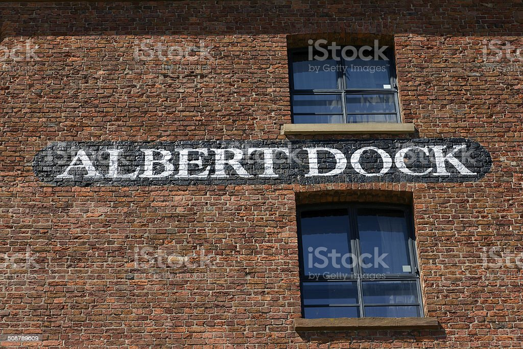 Albert Dock Sign stock photo