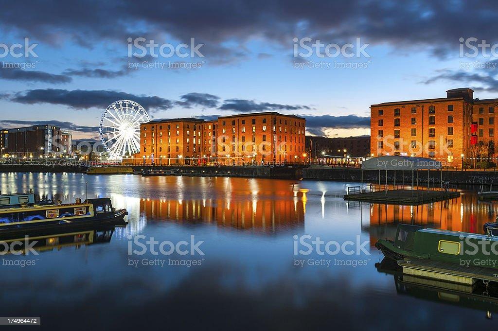 Albert Docks, Liverpool, England royalty-free stock photo