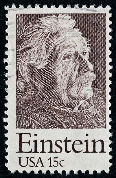sello de albert einstein - e=mc2 fotografías e imágenes de stock