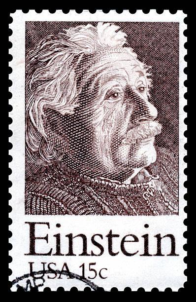 albert einstein usa-briefmarke - berühmte physiker stock-fotos und bilder