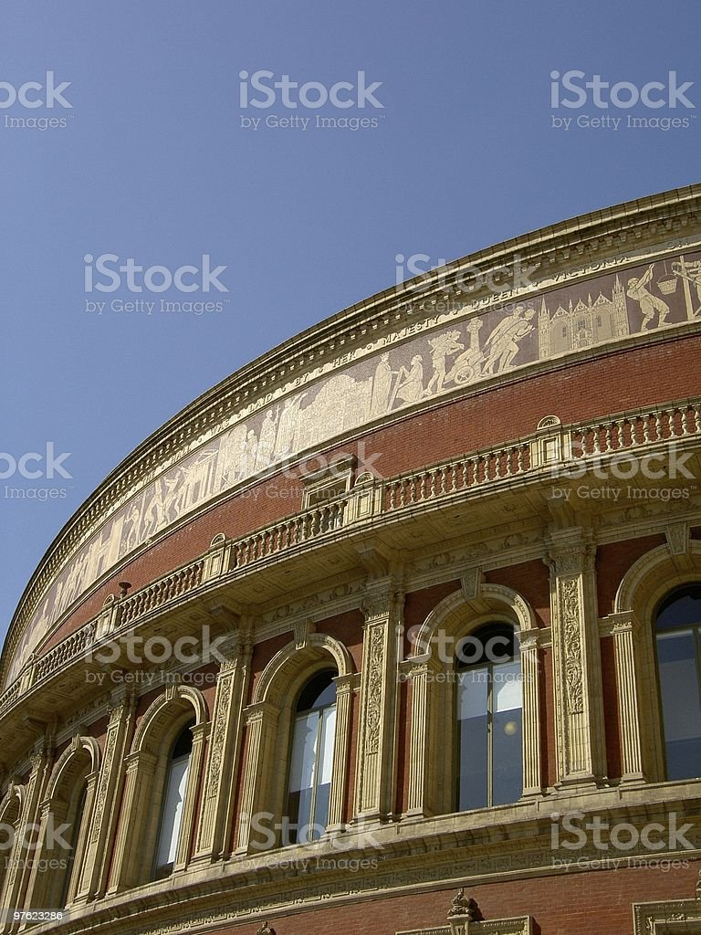 Albert Hall in a clear day royalty-free stock photo