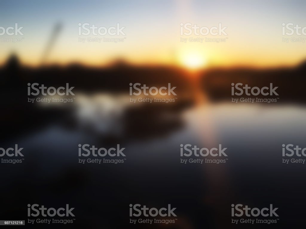 Albert Lea Water Tower Sunset Blur - Royalty-free Backgrounds Stock Photo