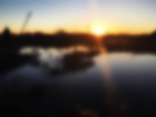 Albert Lea Water Tower Sunset Blur stock photo