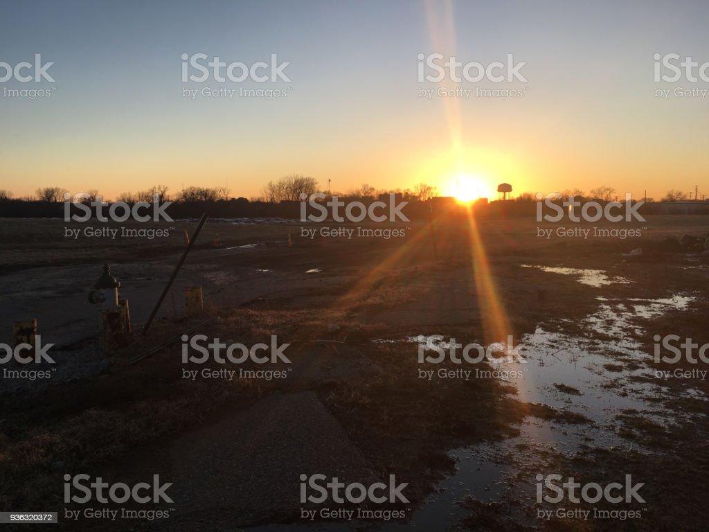 Albert Lea Water Tower Sunset royalty-free stock photo
