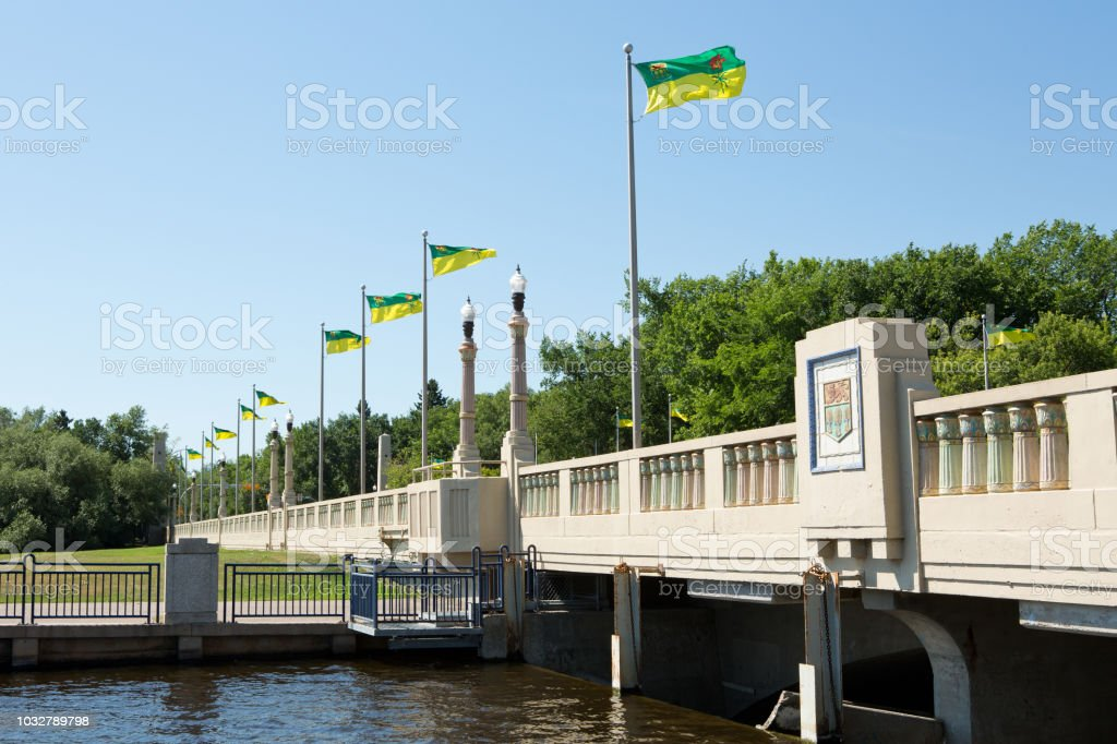 Albert Memoral Bridge Regina stock photo