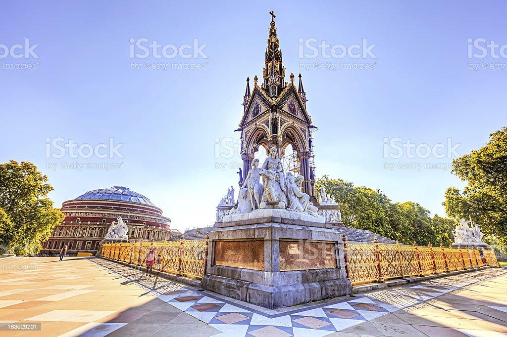 Albert Memorial and Hall royalty-free stock photo