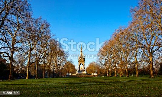 istock Albert Memorial And Kensington Gardens In Winter Sun 508881590