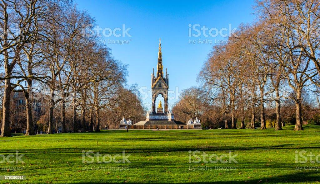 Albert Memorial And Kensington Gardens stock photo