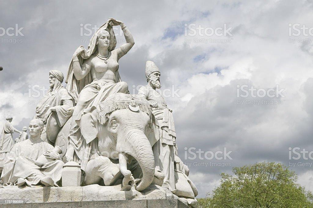 Albert Memorial - Asia Statues stock photo