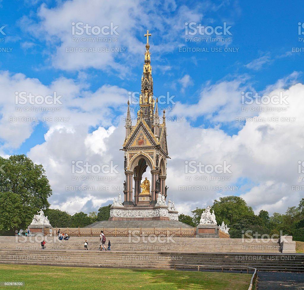 Albert Memorial in Kensington Gardens, London, Englan stock photo