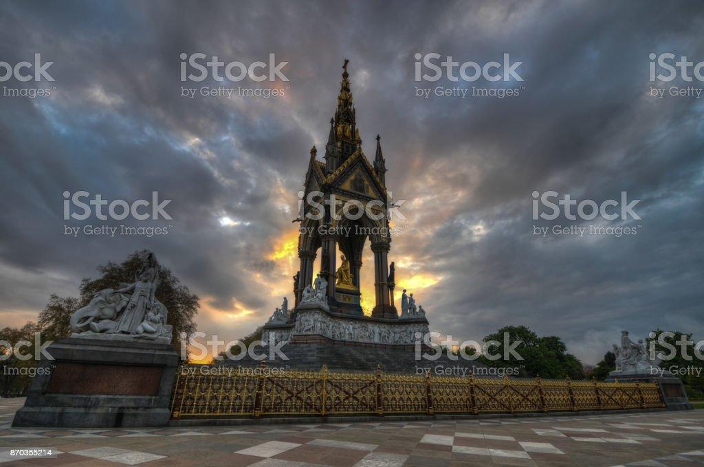 Albert Memorial, London stock photo