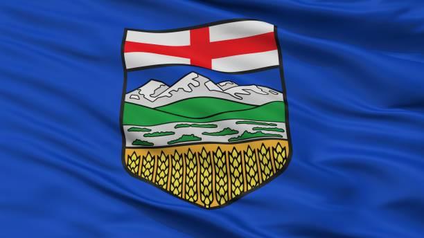 Alberta City Flag, Canada, Closeup View stock photo