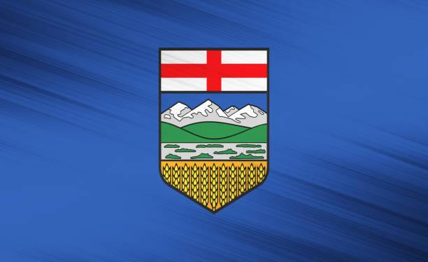Alberta flag stock photo