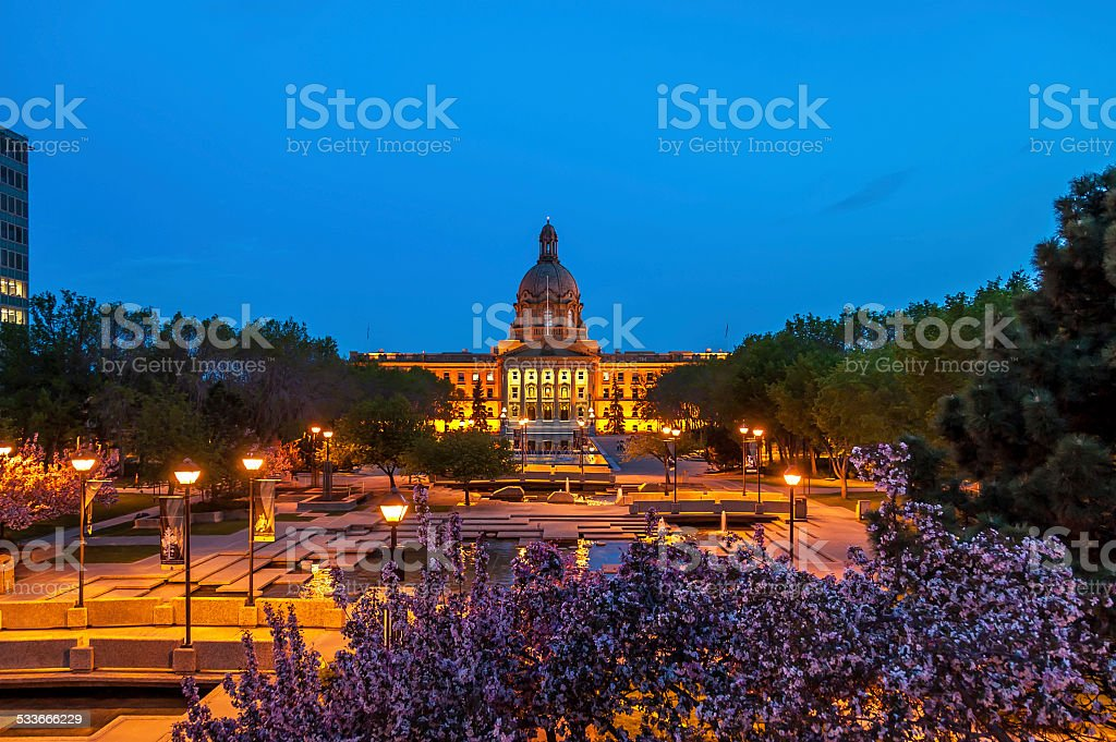 Alberta Legislature Building stock photo